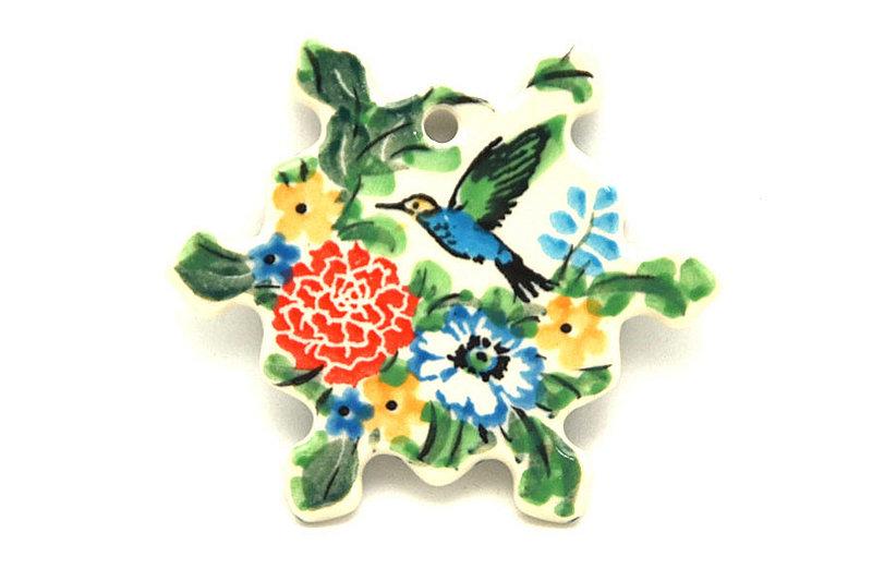 Ceramika Artystyczna Polish Pottery Ornament - Snowflake - Unikat Signature - U3271 A88-U3271 (Ceramika Artystyczna)
