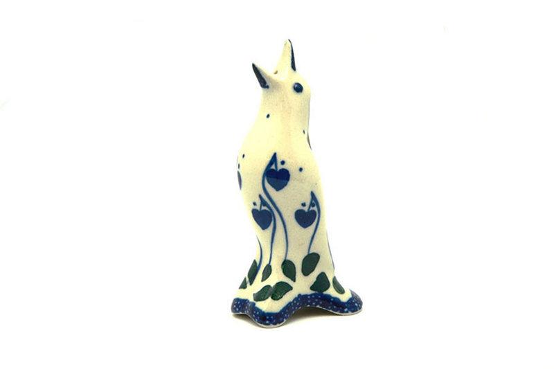 Ceramika Artystyczna Polish Pottery Pie Bird - Bleeding Heart C14-377o (Ceramika Artystyczna)