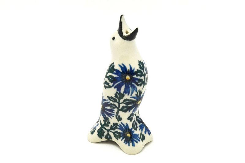 Ceramika Artystyczna Polish Pottery Pie Bird - Blue Chicory C14-976a (Ceramika Artystyczna)