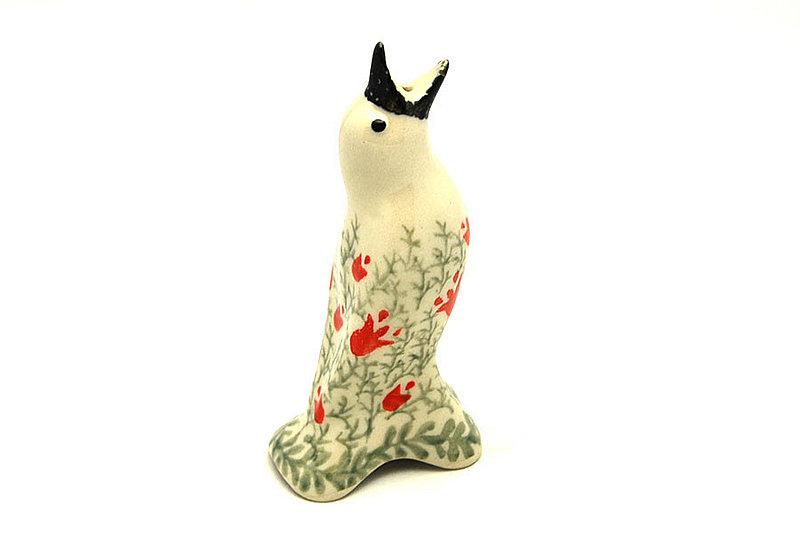 Ceramika Artystyczna Polish Pottery Pie Bird - Crimson Bells C14-1437a (Ceramika Artystyczna)