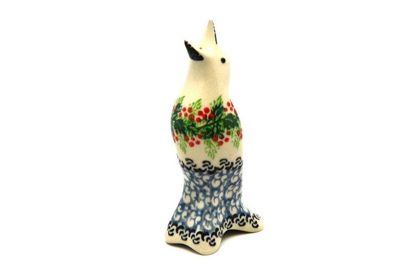 Polish Pottery Pie Bird - Holly Berry