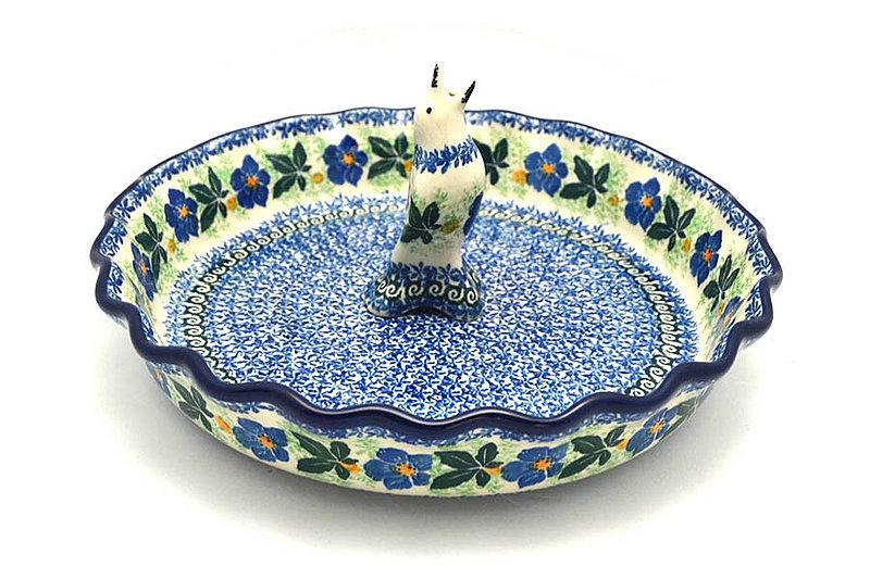 Ceramika Artystyczna Polish Pottery Pie Set - Blue Pansy S63-1552a (Ceramika Artystyczna)