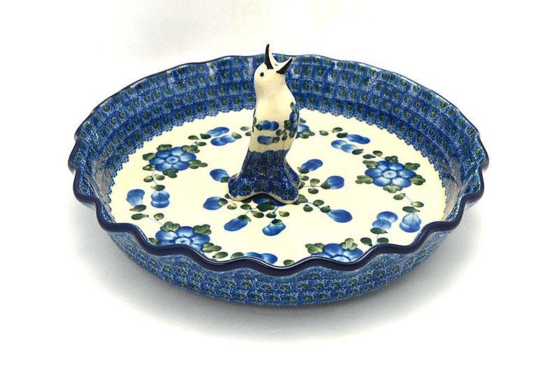 Ceramika Artystyczna Polish Pottery Pie Set - Blue Poppy S63-163a (Ceramika Artystyczna)