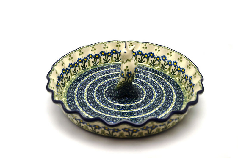 Polish Pottery Pie Set - Blue Spring Daisy