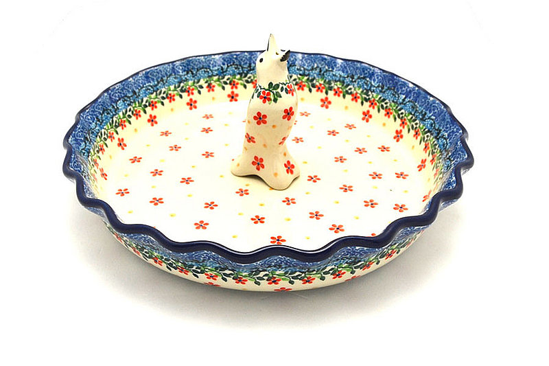 Ceramika Artystyczna Polish Pottery Pie Set - Cherry Jubilee S63-2284a (Ceramika Artystyczna)