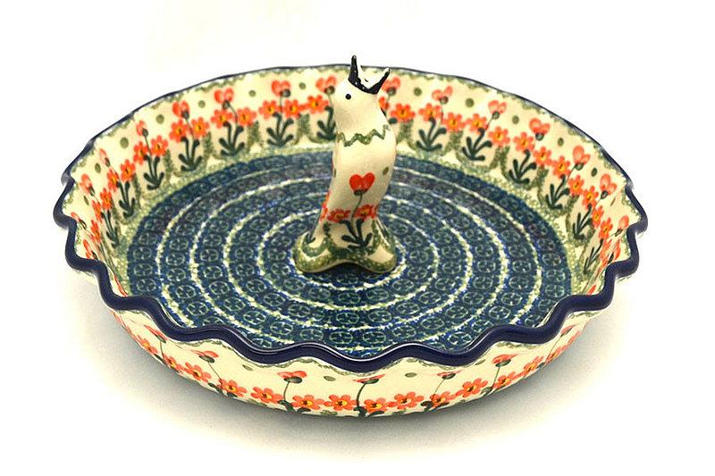 Ceramika Artystyczna Polish Pottery Pie Set - Peach Spring Daisy S63-560a (Ceramika Artystyczna)
