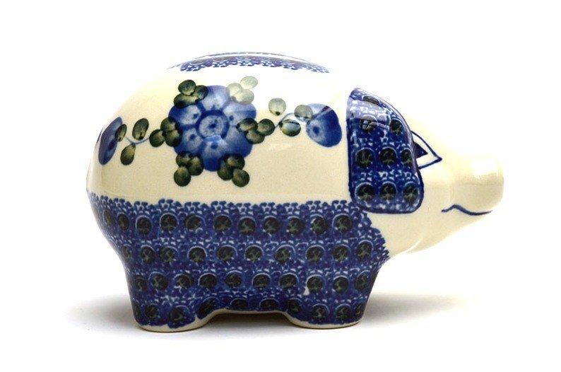 Ceramika Artystyczna Polish Pottery Piggy Bank - Blue Poppy 155-163a (Ceramika Artystyczna)