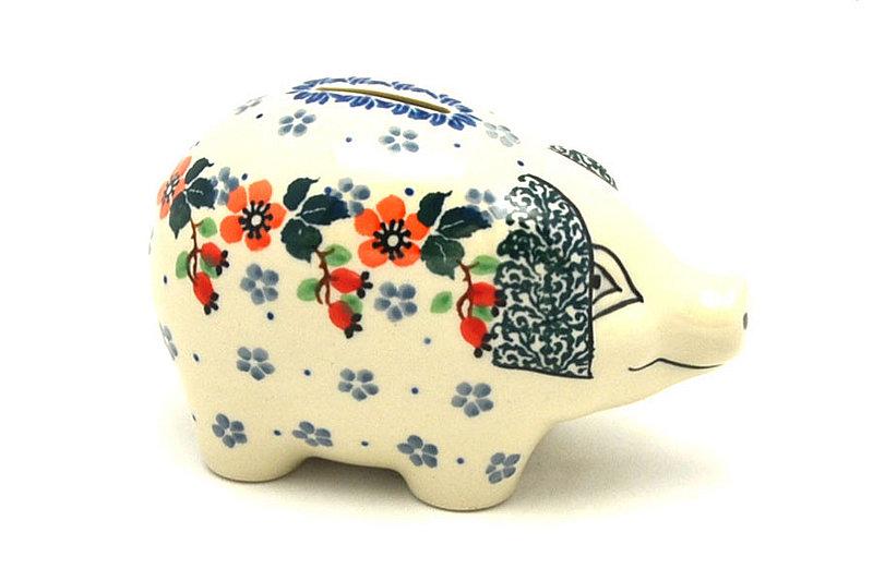 Ceramika Artystyczna Polish Pottery Piggy Bank - Cherry Blossom 155-2103a (Ceramika Artystyczna)