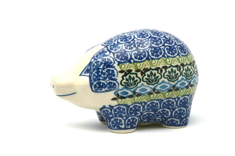 Ceramika Artystyczna Polish Pottery Piggy Bank - Tranquility 155-1858a (Ceramika Artystyczna)
