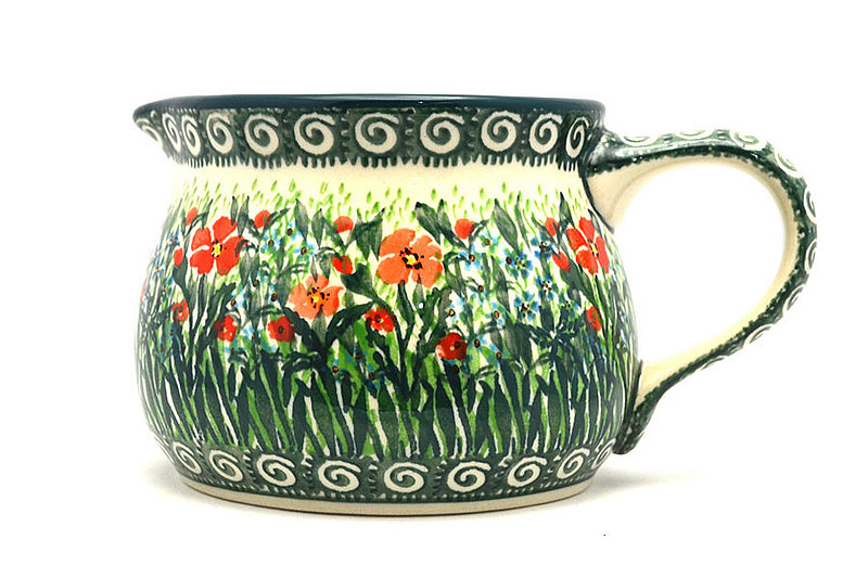 Ceramika Artystyczna Polish Pottery Pitcher - 15 oz. - Unikat Signature - U4336 009-U4336 (Ceramika Artystyczna)