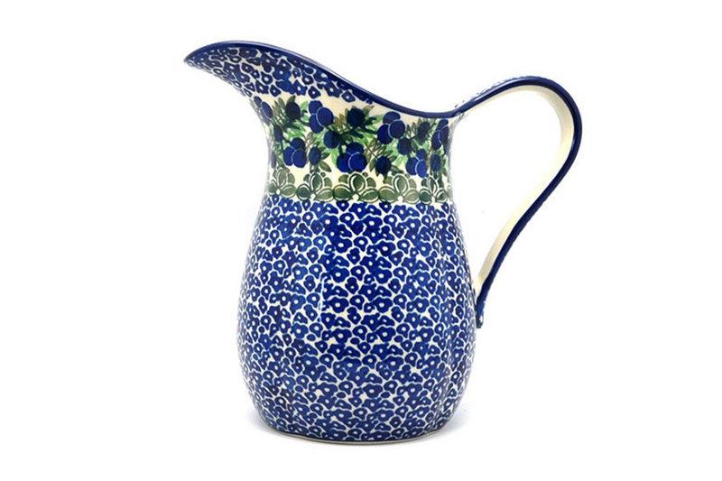 Ceramika Artystyczna Polish Pottery Pitcher - 2 pint - Huckleberry B35-1413a (Ceramika Artystyczna)