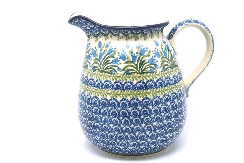 Ceramika Artystyczna Polish Pottery Pitcher - 2 quart - Blue Bells 082-1432a (Ceramika Artystyczna)