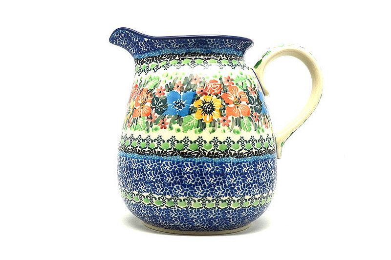 Ceramika Artystyczna Polish Pottery Pitcher - 2 quart - Unikat Signature U3347 082-U3347 (Ceramika Artystyczna)