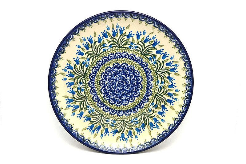 "Polish Pottery Plate - 10"" Dinner - Blue Bells"