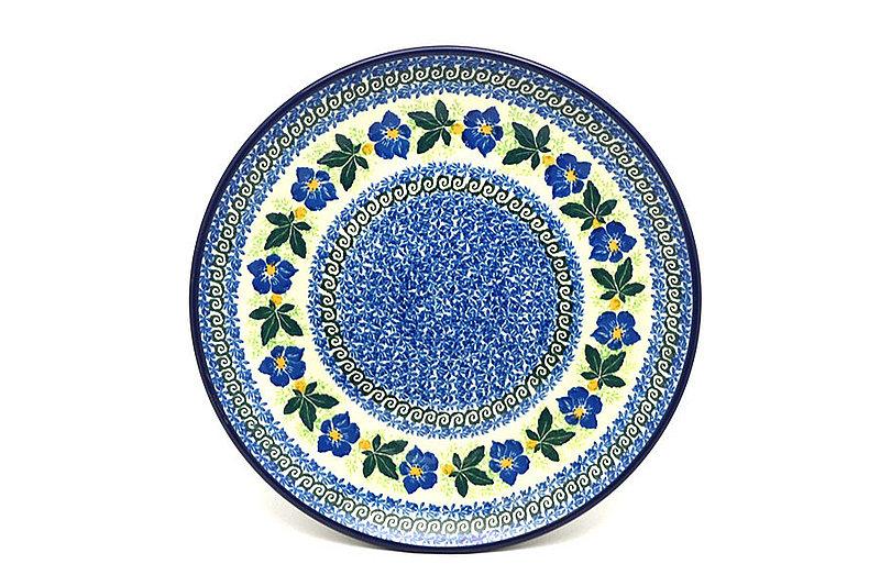"Ceramika Artystyczna Polish Pottery Plate - 10"" Dinner - Blue Pansy 257-1552a (Ceramika Artystyczna)"