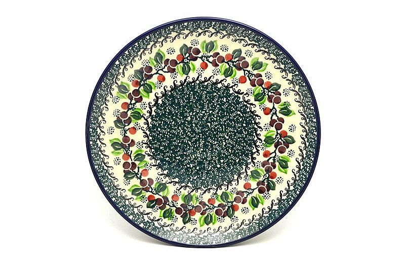 "Ceramika Artystyczna Polish Pottery Plate - 10"" Dinner - Burgundy Berry Green 257-1415a (Ceramika Artystyczna)"