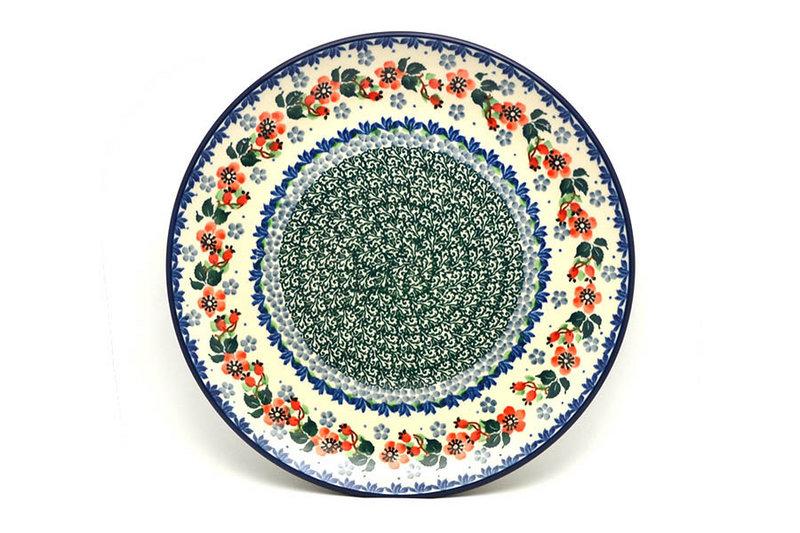 "Polish Pottery Plate - 10"" Dinner - Cherry Blossom"
