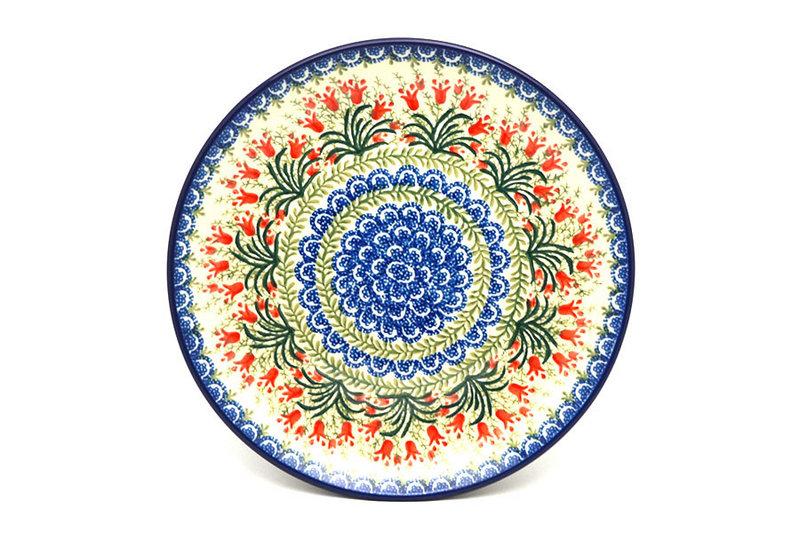 "Ceramika Artystyczna Polish Pottery Plate - 10"" Dinner - Crimson Bells 257-1437a (Ceramika Artystyczna)"