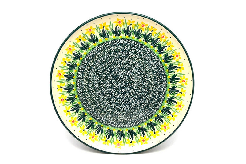 "Ceramika Artystyczna Polish Pottery Plate - 10"" Dinner - Daffodil 257-2122q (Ceramika Artystyczna)"