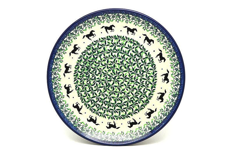 "Ceramika Artystyczna Polish Pottery Plate - 10"" Dinner - Dark Horse 257-2241a (Ceramika Artystyczna)"