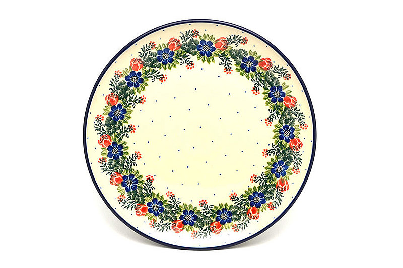 "Polish Pottery Plate - 10"" Dinner - Garden Party"