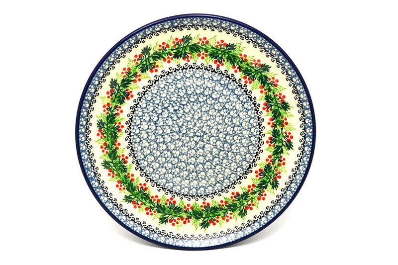 "Ceramika Artystyczna Polish Pottery Plate - 10"" Dinner - Holly Berry 257-1734a (Ceramika Artystyczna)"