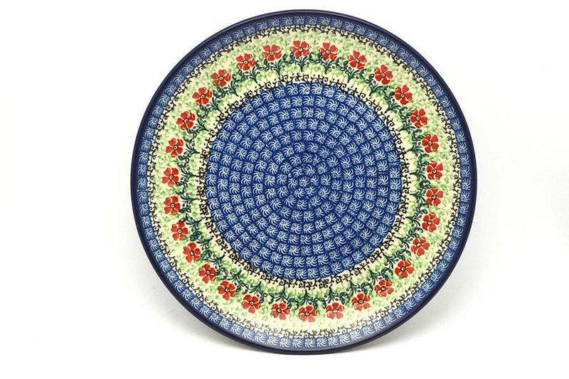 "Ceramika Artystyczna Polish Pottery Plate - 10"" Dinner - Maraschino 257-1916a (Ceramika Artystyczna)"