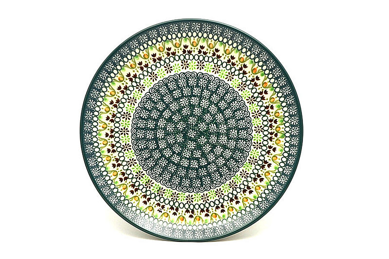 "Ceramika Artystyczna Polish Pottery Plate - 10"" Dinner - Mint Chip 257-2195q (Ceramika Artystyczna)"