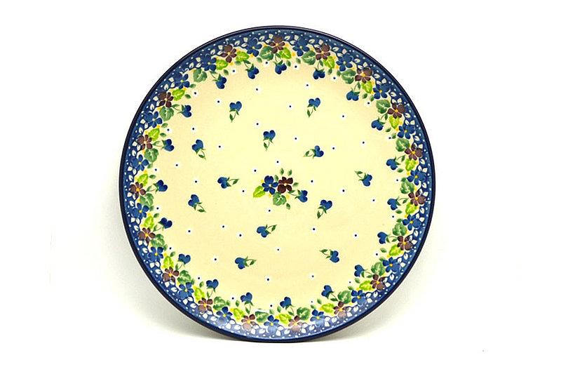 "Ceramika Artystyczna Polish Pottery Plate - 10"" Dinner - Plum Luck 257-2509a (Ceramika Artystyczna)"
