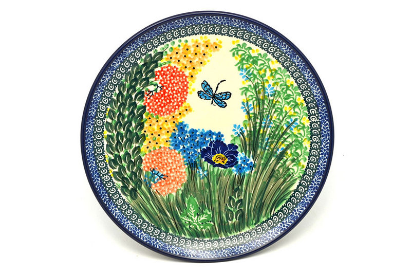 "Ceramika Artystyczna Polish Pottery Plate - 10"" Dinner - Unikat Signature - U4612 257-U4612 (Ceramika Artystyczna)"