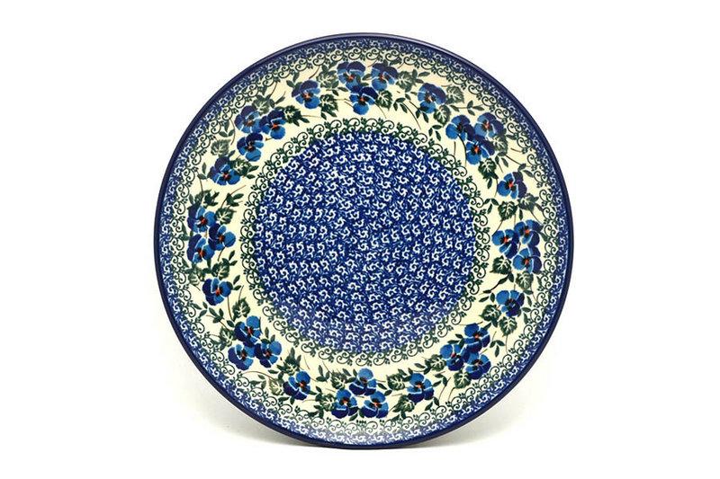 "Ceramika Artystyczna Polish Pottery Plate - 10"" Dinner - Winter Viola 257-2273a (Ceramika Artystyczna)"
