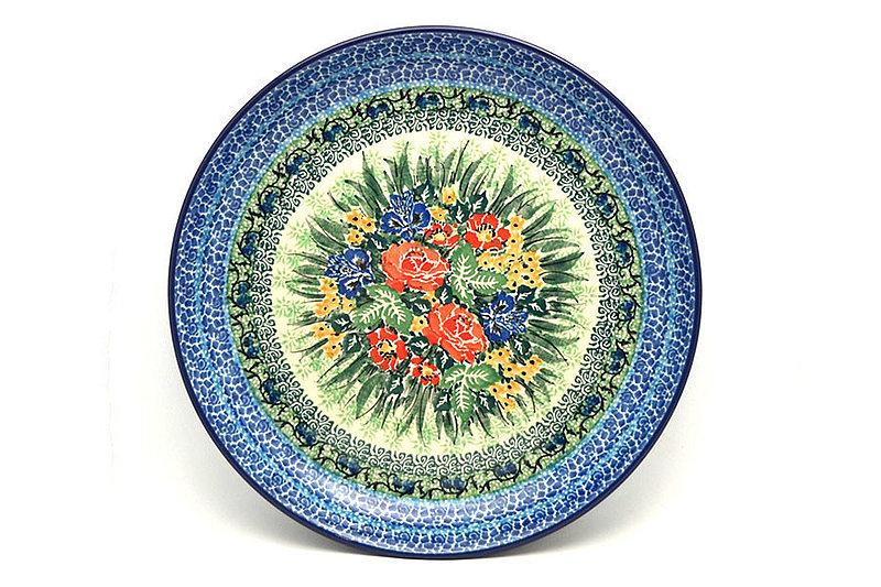 "Ceramika Artystyczna Polish Pottery Plate - 9 1/2"" Luncheon - Unikat Signature U4400 302-U4400 (Ceramika Artystyczna)"