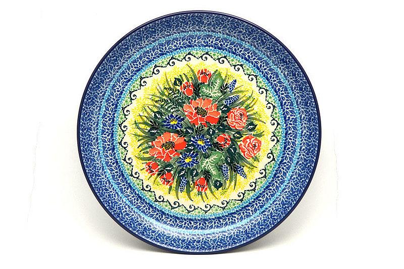 "Ceramika Artystyczna Polish Pottery Plate - 9 1/2"" Luncheon - Unikat Signature U4610 302-U4610 (Ceramika Artystyczna)"