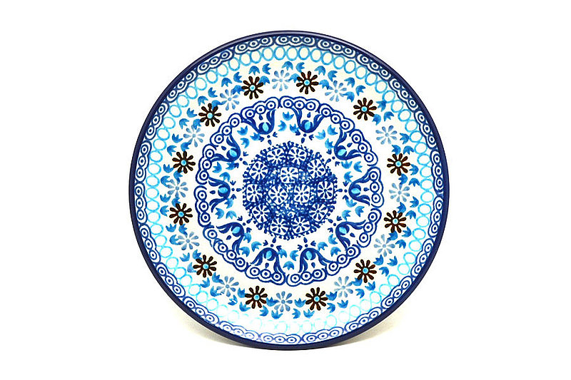 "Ceramika Artystyczna Polish Pottery Plate - Bread & Butter (6 1/4"") - Blue Yonder 261-2187a (Ceramika Artystyczna)"