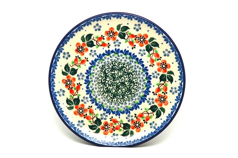 "Ceramika Artystyczna Polish Pottery Plate - Bread & Butter (6 1/4"") - Cherry Blossom 261-2103a (Ceramika Artystyczna)"