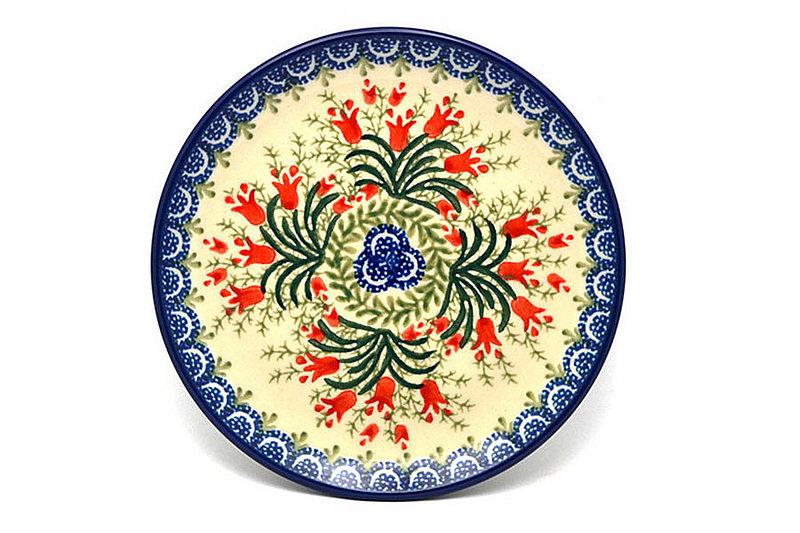 "Ceramika Artystyczna Polish Pottery Plate - Bread & Butter (6 1/4"") - Crimson Bells 261-1437a (Ceramika Artystyczna)"