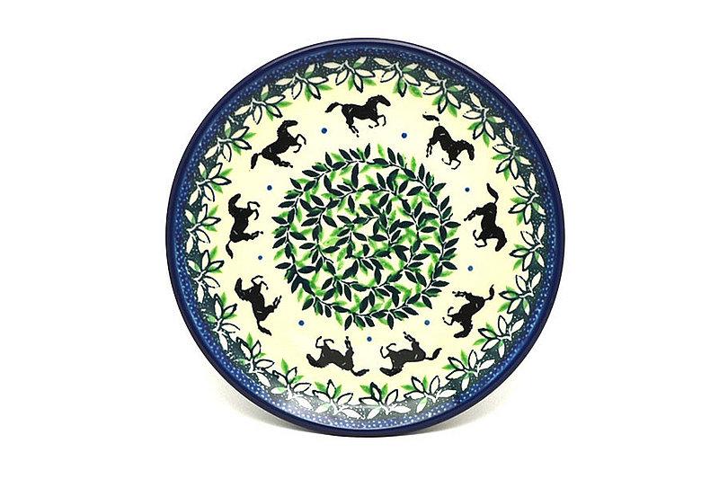 "Ceramika Artystyczna Polish Pottery Plate - Bread & Butter (6 1/4"") - Dark Horse 261-2241a (Ceramika Artystyczna)"