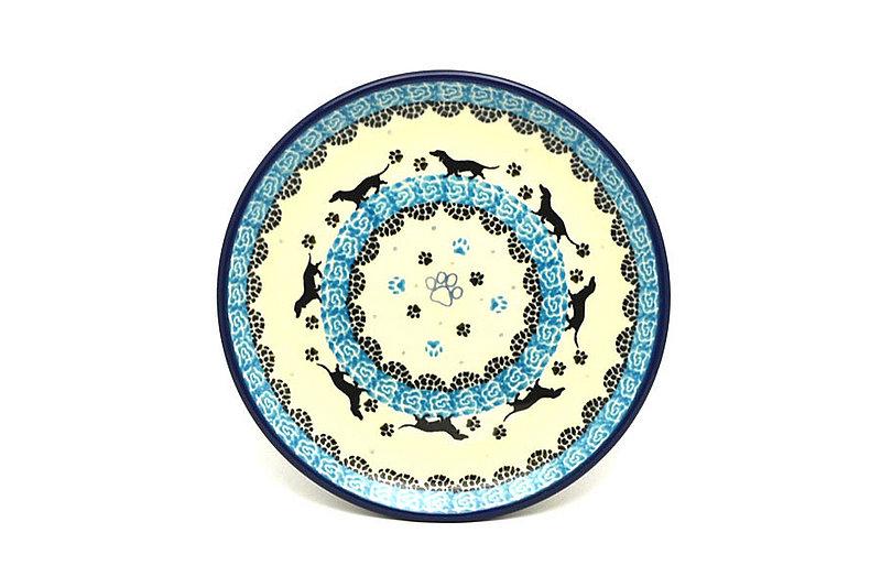 "Ceramika Artystyczna Polish Pottery Plate - Bread & Butter (6 1/4"") - Diggity Dog 261-2152a (Ceramika Artystyczna)"