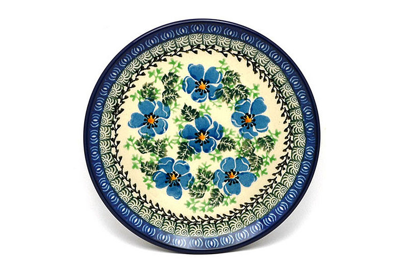 """Polish Pottery Plate - Bread & Butter (6 1/4"""") - Morning Glory"""