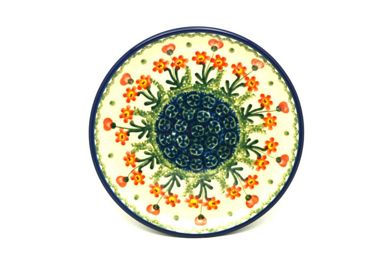 "Ceramika Artystyczna Polish Pottery Plate - Bread & Butter (6 1/4"") - Peach Spring Daisy 261-560a (Ceramika Artystyczna)"