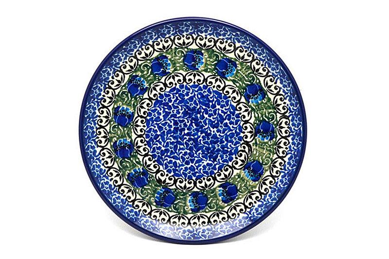 "Ceramika Artystyczna Polish Pottery Plate - Bread & Butter (6 1/4"") - Peacock Feather 261-1513a (Ceramika Artystyczna)"