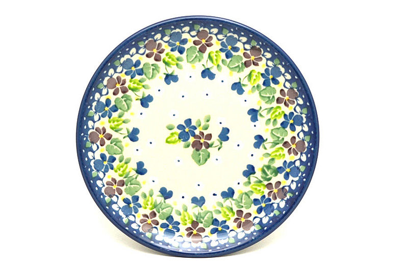 "Ceramika Artystyczna Polish Pottery Plate - Bread & Butter (6 1/4"") - Plum Luck 261-2509a (Ceramika Artystyczna)"