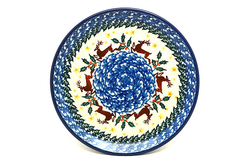 "Polish Pottery Plate - Bread & Butter (6 1/4"") - Prancer"