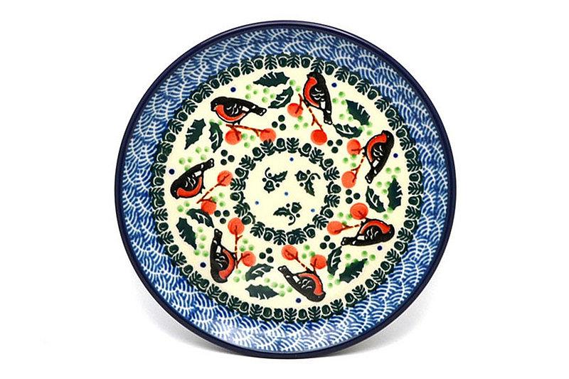 "Ceramika Artystyczna Polish Pottery Plate - Bread & Butter (6 1/4"") - Red Robin 261-1257a (Ceramika Artystyczna)"