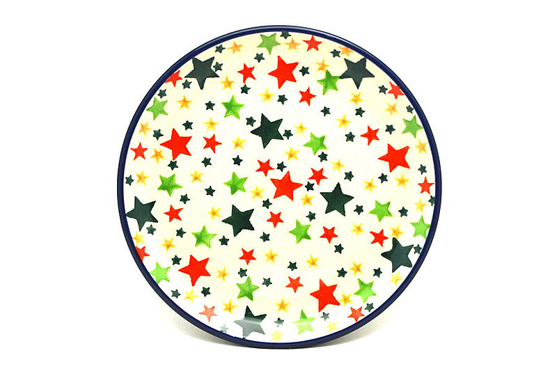 "Ceramika Artystyczna Polish Pottery Plate - Bread & Butter (6 1/4"") - Star Studded 261-2258a (Ceramika Artystyczna)"