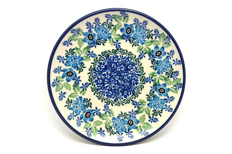 """Ceramika Artystyczna Polish Pottery Plate - Bread & Butter (6 1/4"""") - Wild Indigo 261-1865a (Ceramika Artystyczna)"""