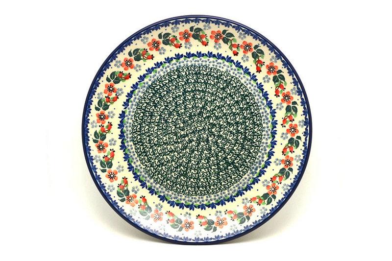"Ceramika Artystyczna Polish Pottery Plate - Dinner (10 1/2"") - Cherry Blossom 223-2103a (Ceramika Artystyczna)"