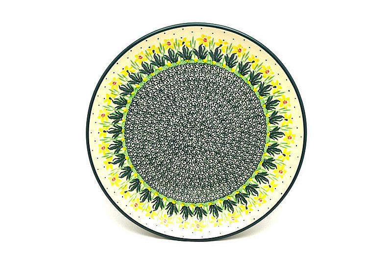 "Ceramika Artystyczna Polish Pottery Plate - Dinner (10 1/2"") - Daffodil 223-2122q (Ceramika Artystyczna)"