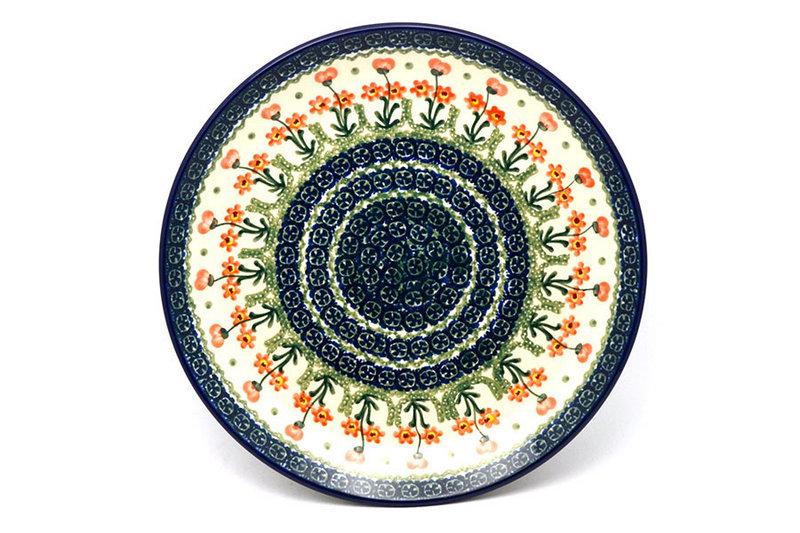 "Ceramika Artystyczna Polish Pottery Plate - Dinner (10 1/2"") - Peach Spring Daisy 223-560a (Ceramika Artystyczna)"
