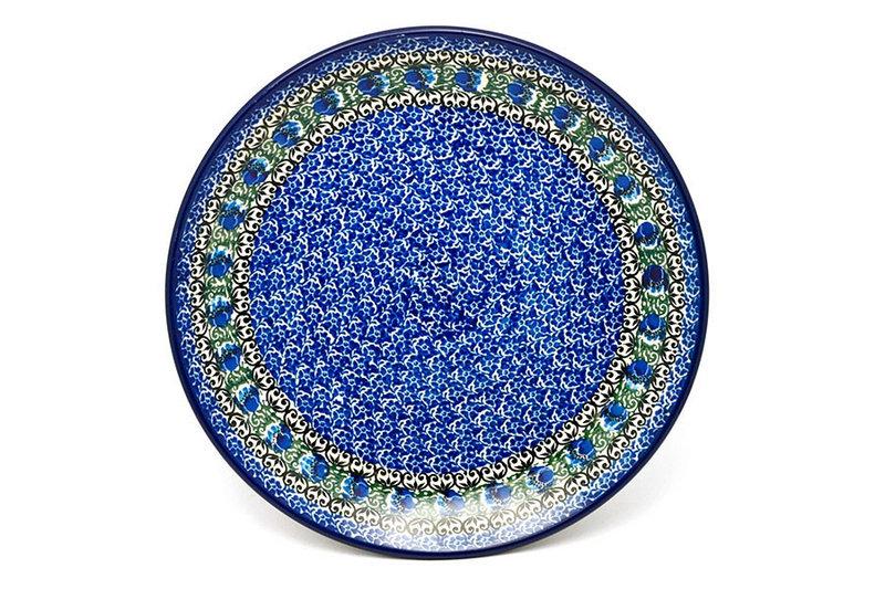 "Ceramika Artystyczna Polish Pottery Plate - Dinner (10 1/2"") - Peacock Feather 223-1513a (Ceramika Artystyczna)"